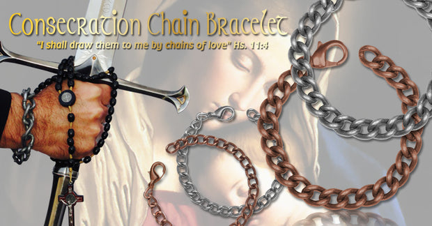 Men's Consecration Chain Bracelet - Antique Silver - Roman Catholic Gear