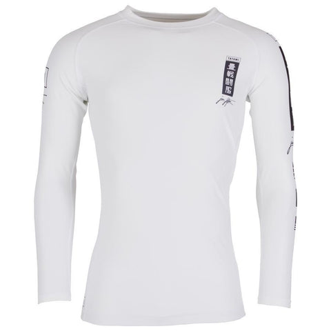 Kanagawa Long Sleeve Rash Guard - White