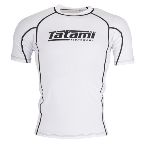 Standard Short Sleeve Rash Guard - White
