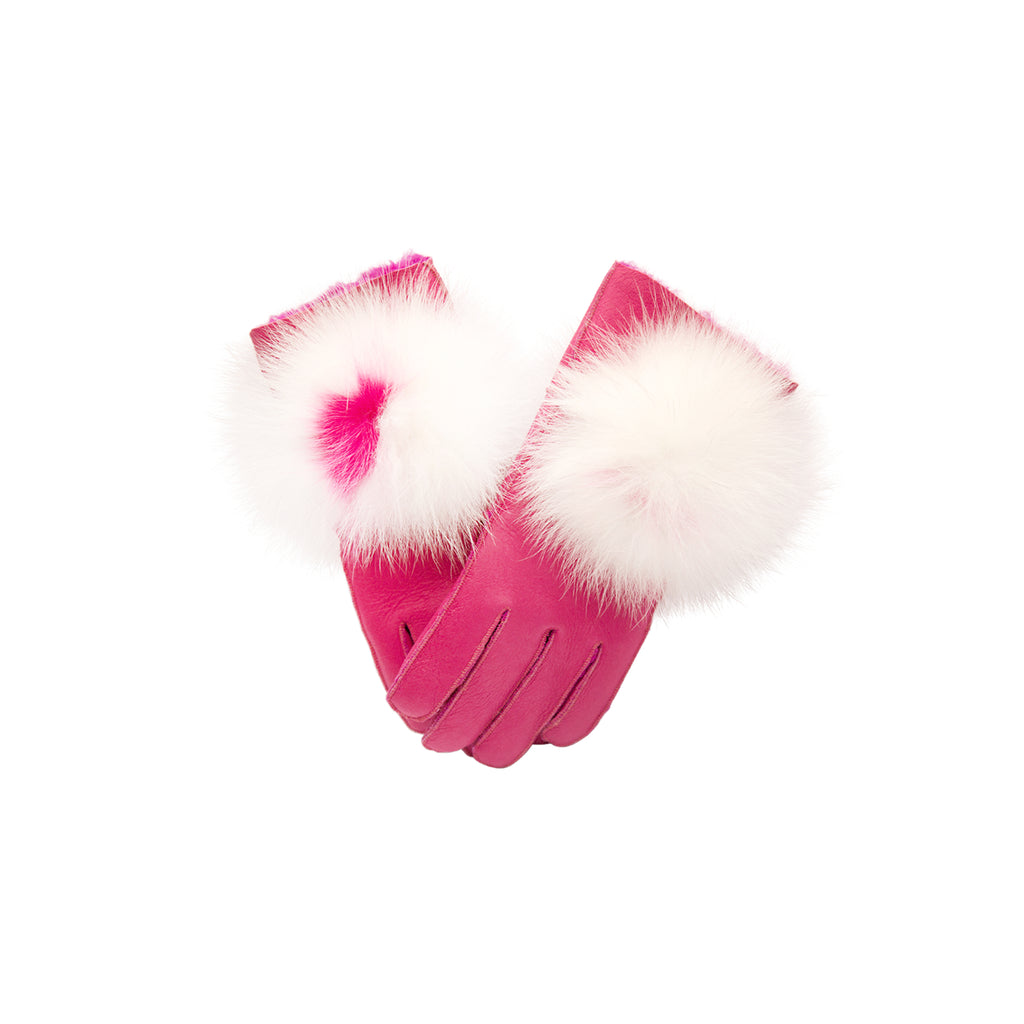 Fox Pom Gloves