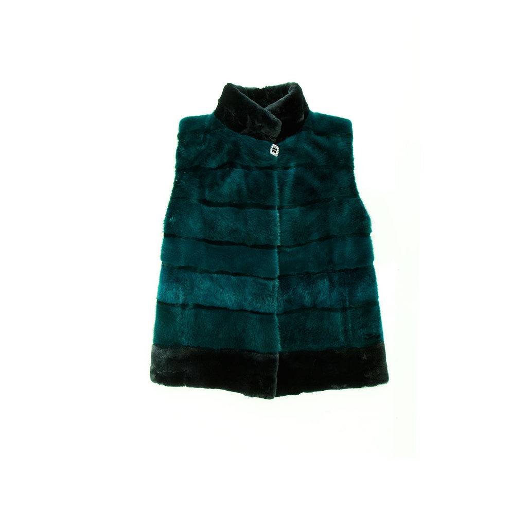 Winter Green Mink Vest