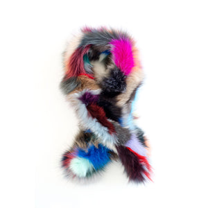 Fox Fur Rainbow Scarf