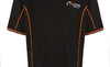 Black ProTools polo shirt with orange piping