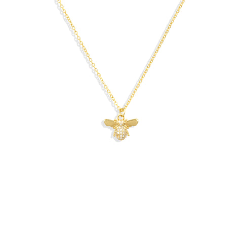 Cubic Zirconia Bee Dainty Necklace - IT STYLE BOX