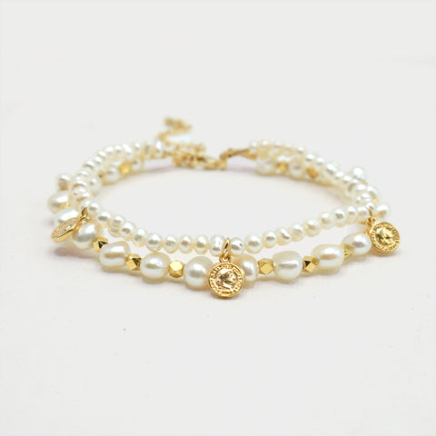 Layered White Pearl Bracelet - IT STYLE BOX
