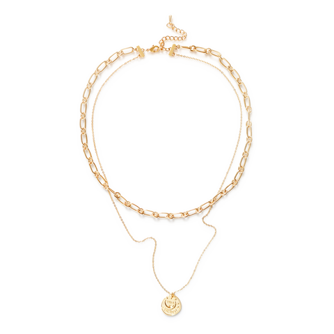 Grace Bold Link Chain Layered Necklace