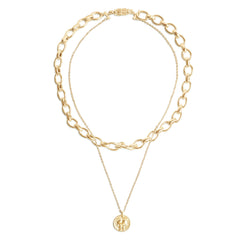 Chloe Bold Link Chain Layered Necklace
