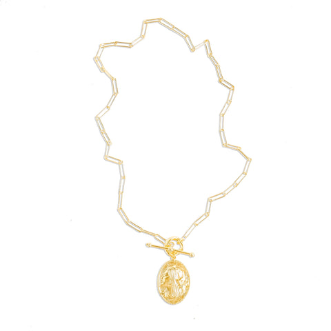 Emma Link Chain Toggle Bar Necklace