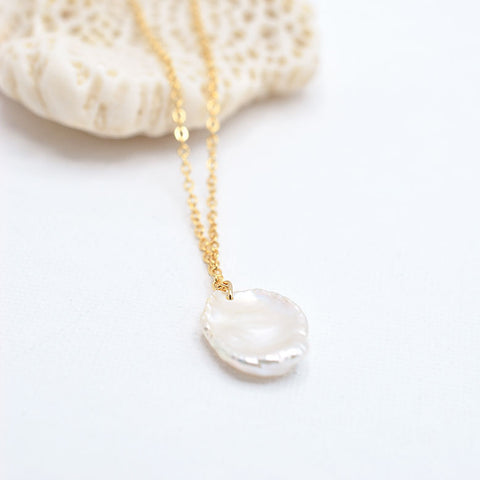 Coin Keshi Pearl Necklace - IT STYLE BOX
