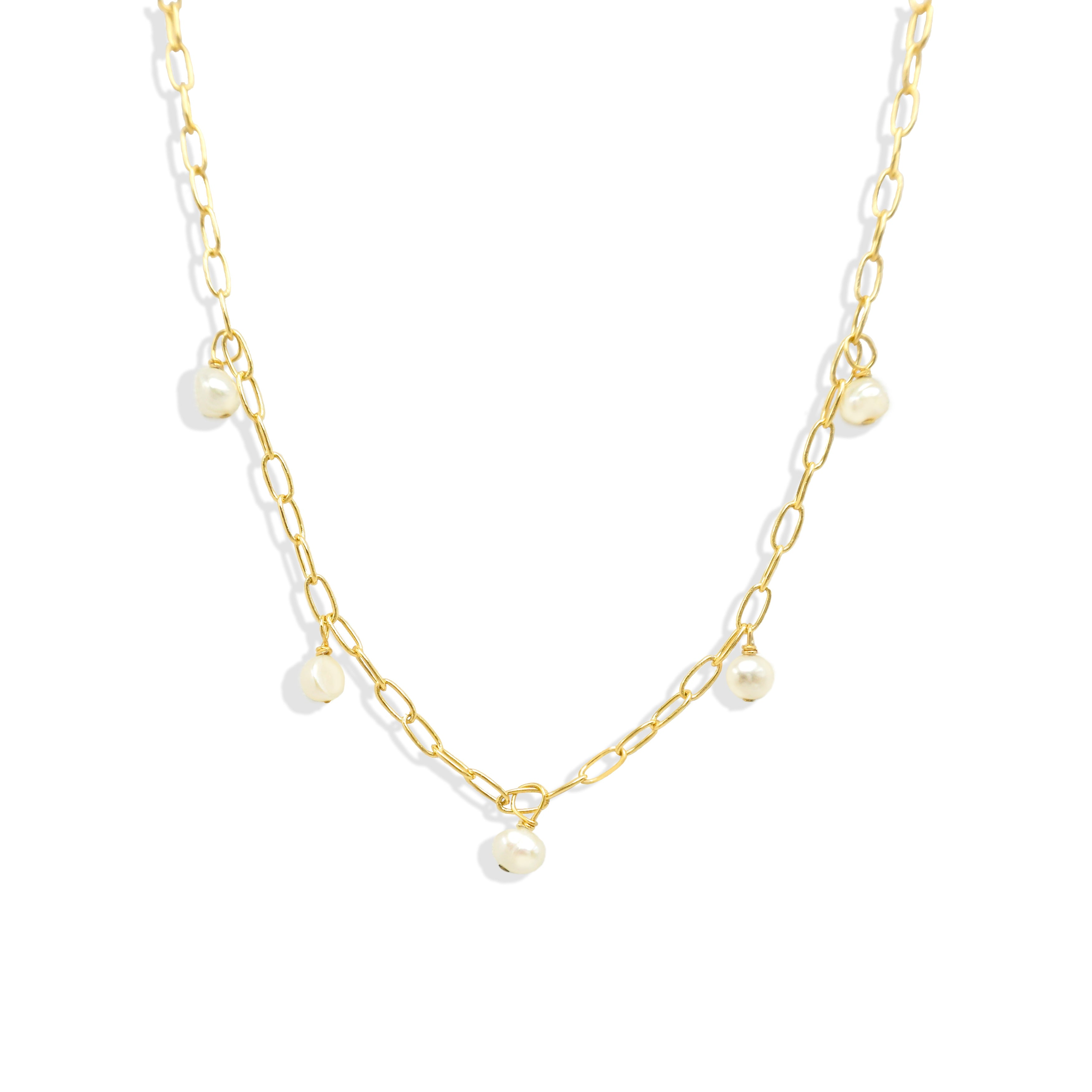 Floating White Freshwater Pearl Necklace - IT STYLE BOX