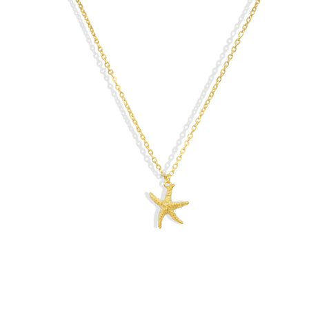 Textured Gold Starfish Dainty Necklace - IT STYLE BOX