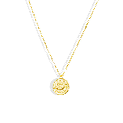 Gold Trio Lvcreti Coin Necklace - IT STYLE BOX