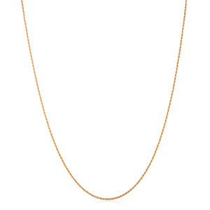 18ct. Gold plated Twisted Rope chain