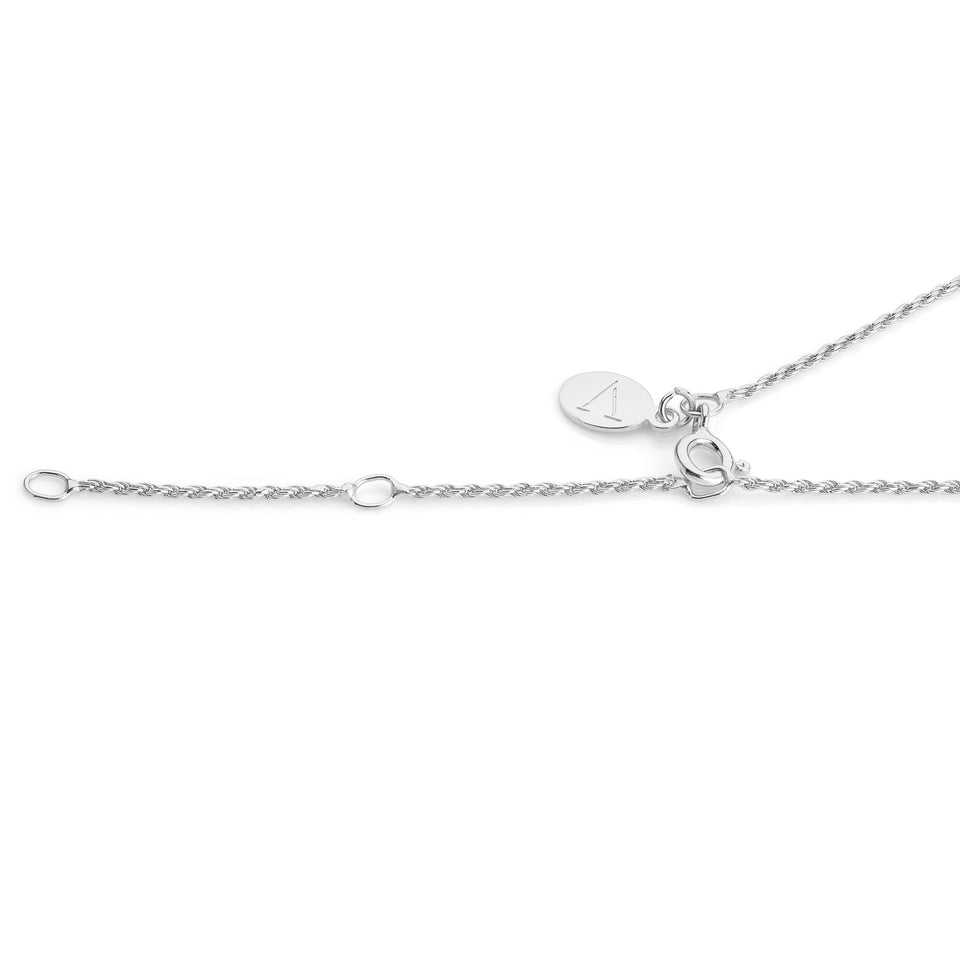 Rhodium plated Twisted Rope chain