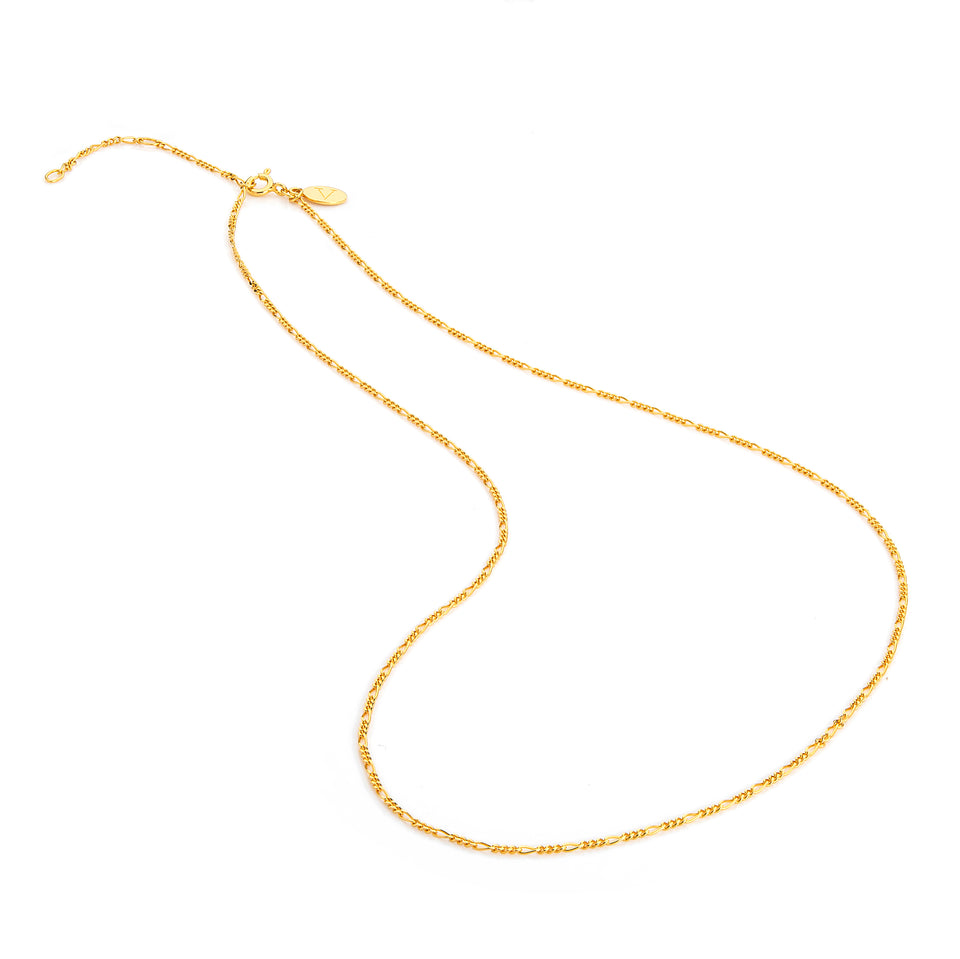 18ct. Gold plated Figaro chain