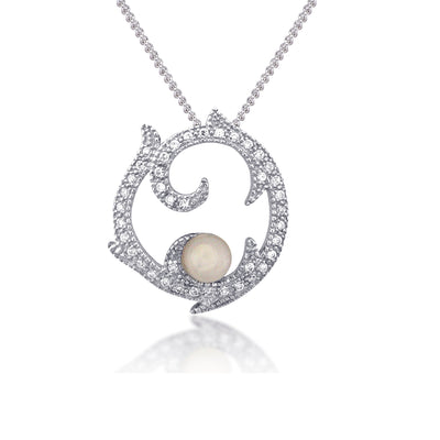 Rose Sterling Silver Necklace