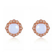 Chalcedony Rose Gold Stud Earrings