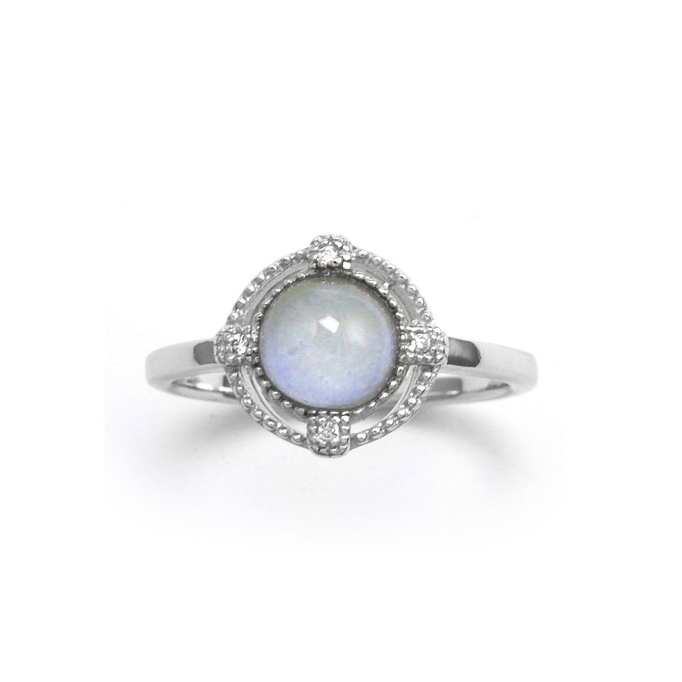 Blue Chalcedony Stone Sterling Silver Ring