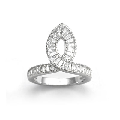 Taper Sterling Silver Ring