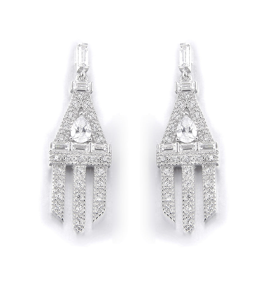 Daimler Silver Drop Earrings
