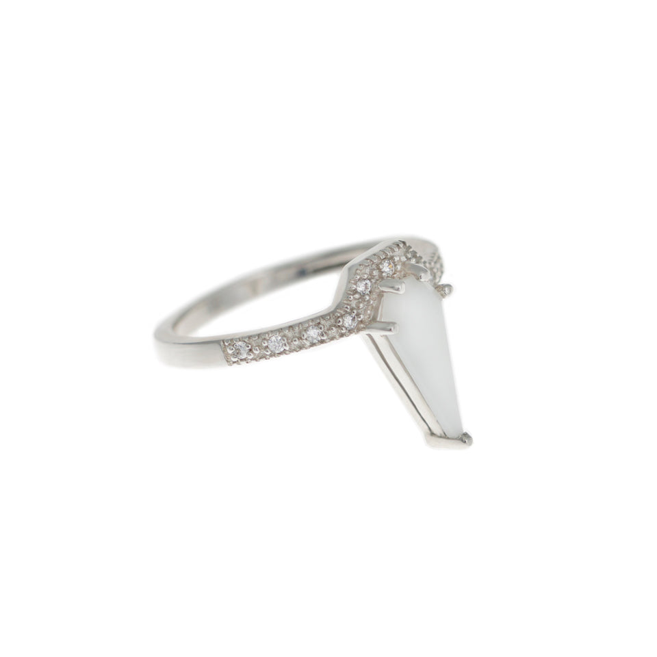 Kit Ceramic Sterling Silver Ring