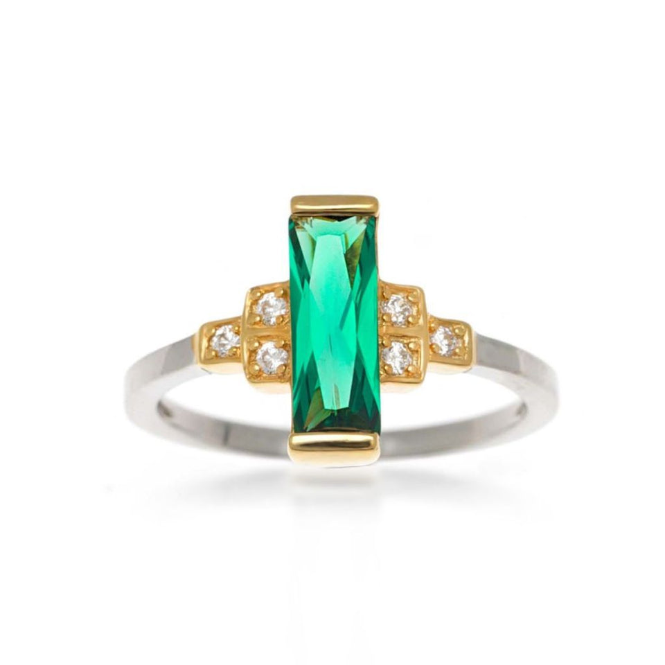 Audrey Green Ring