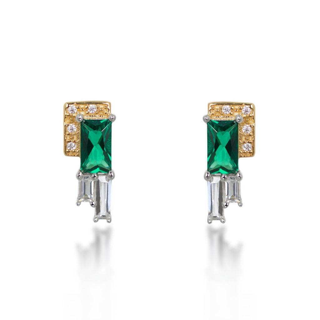 Audrey Green Stud Earrings