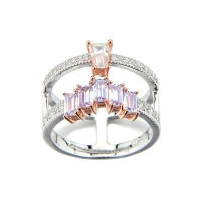 Brooke Lavender Sterling Silver Rose Gold Ring
