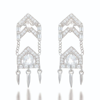 Anita Silver Drop Earrings