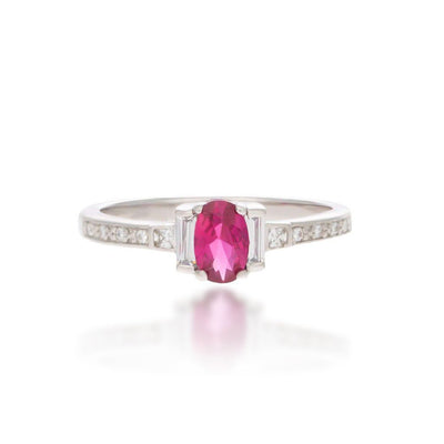 Joan Sterling Silver Ring in Pink