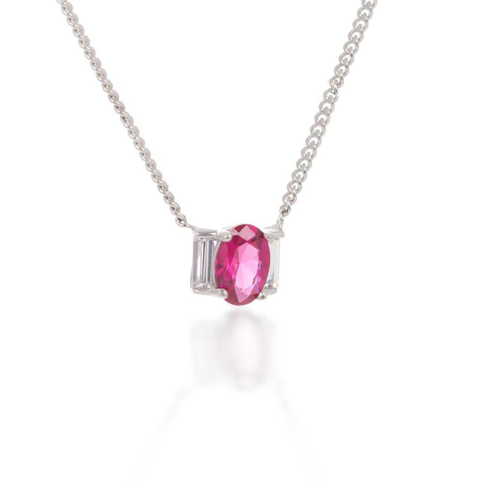 Joan Choker Necklace in Pink Corundum