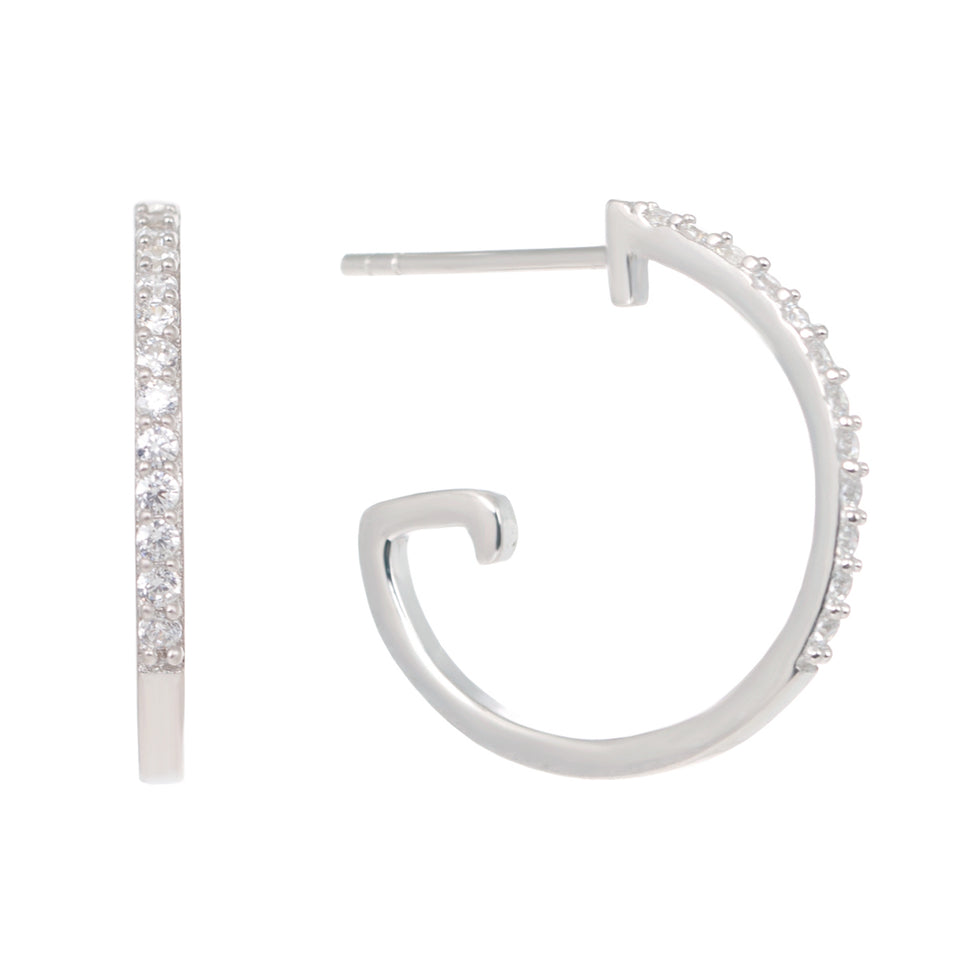 Bonnie Droppers on Silver Hoop Earrings