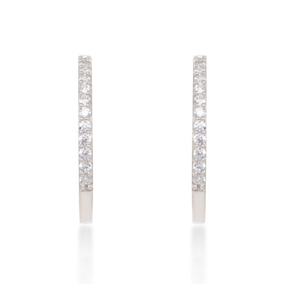 Maxi Sterling Silver Hoop Earrings