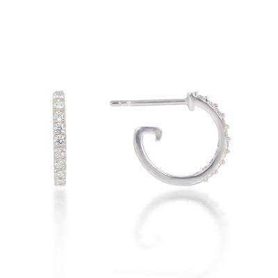 Mini Sterling Silver Hoop Earrings