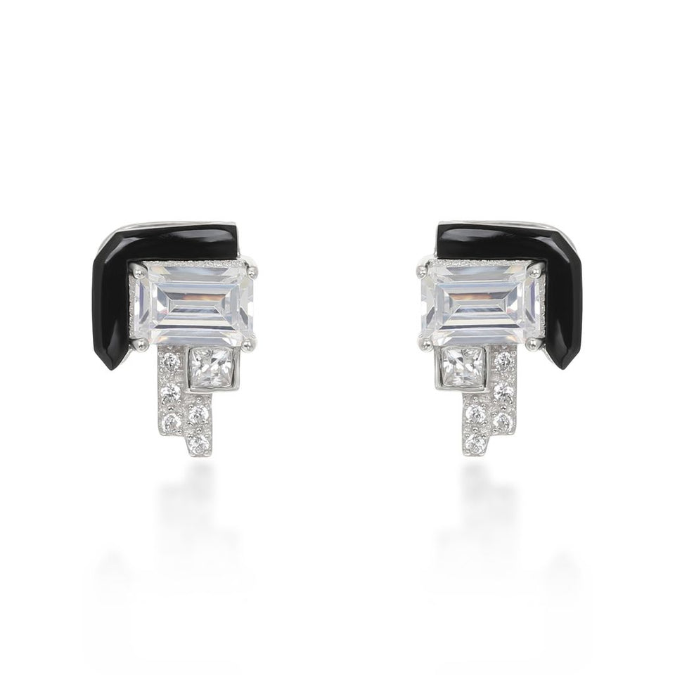 Elodie White Stud Earrings