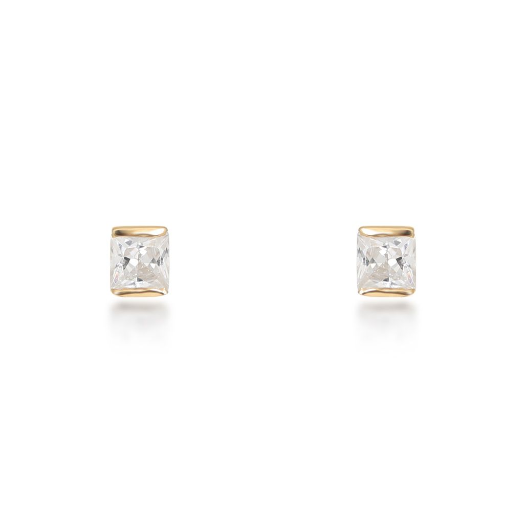 Portia Gold Stud Earrings