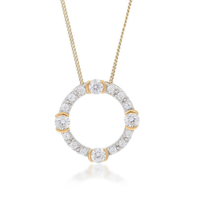 Luna Gold Circle Necklace
