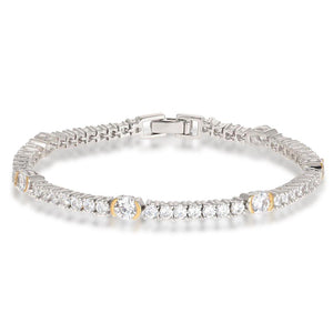 Luna Silver Tennis Bracelet in Gold