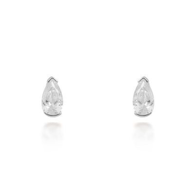 Evelyn Silver Stud Earrings