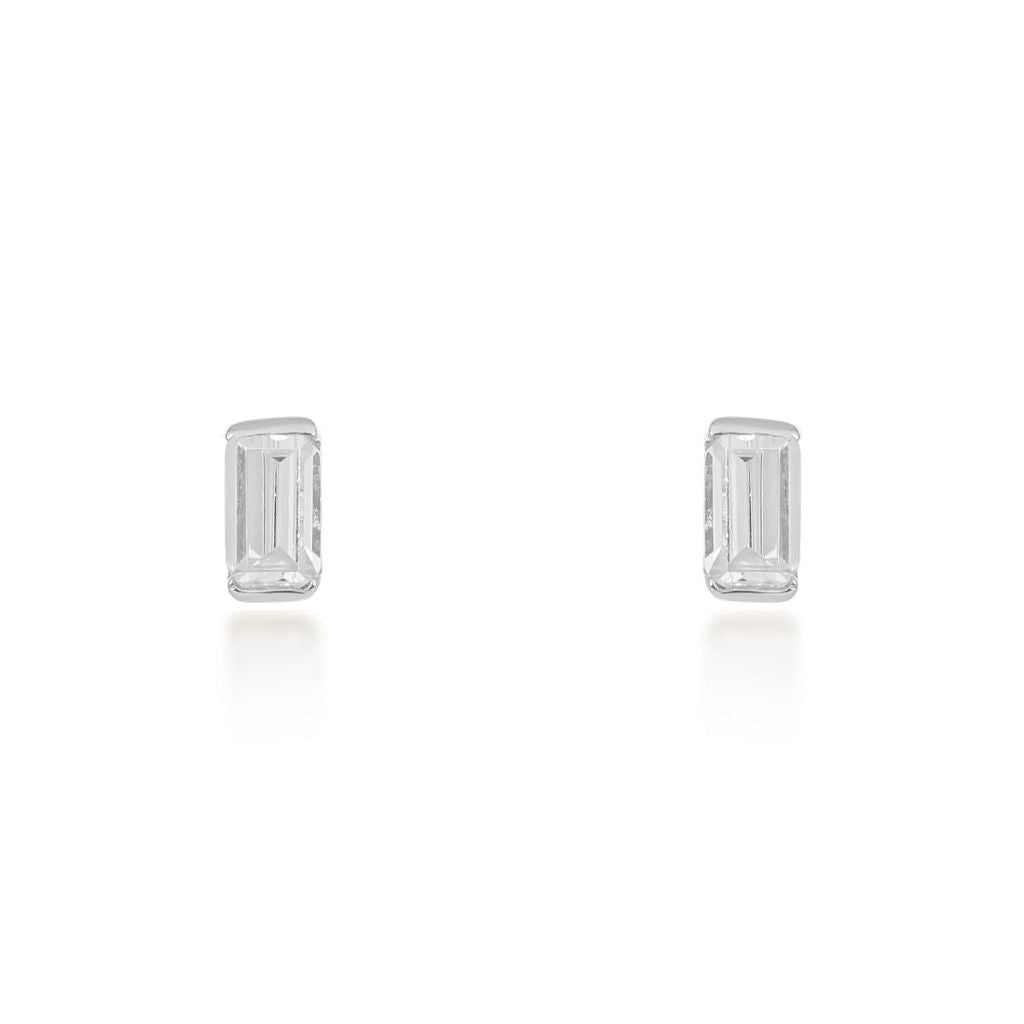 Allegra Silver Stud Earrings
