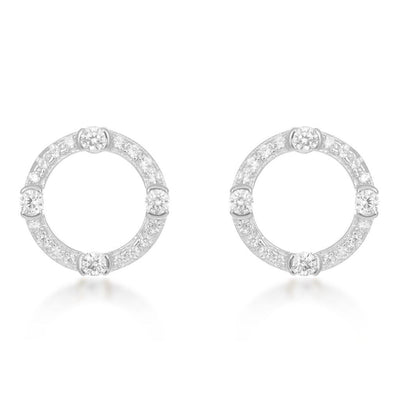 Luna Sterling Silver Circle Earrings