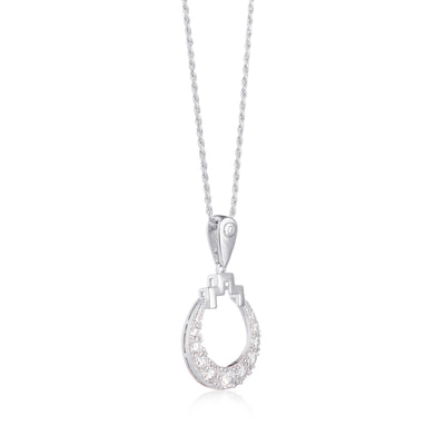 Bianca Silver Circle Necklace on Rope Chain