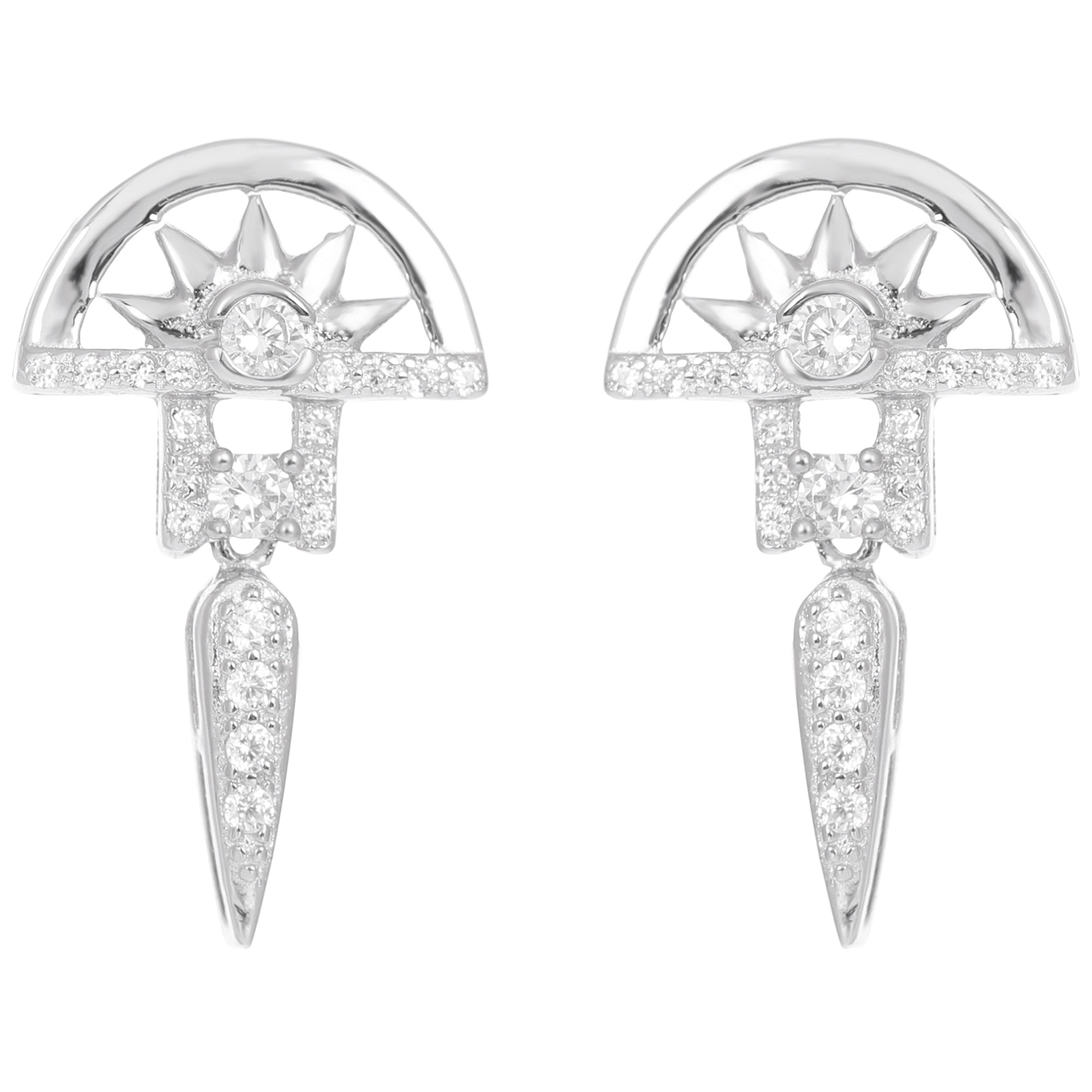 Este Silver Drop Earrings