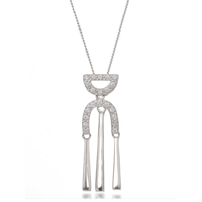 Rita Sterling Silver Drop Necklace