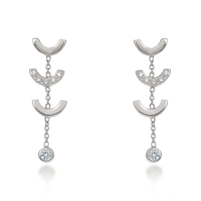 Attina Quartz Silver Earrings