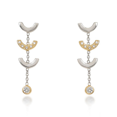 Attina Gold Drop Earrings