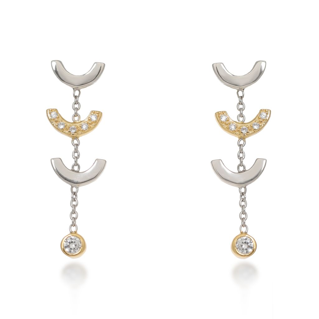 Attina Gold Drop Earrings Earrings V by Laura Vann