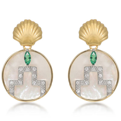 Gina Gold Pearl Drop Earrings