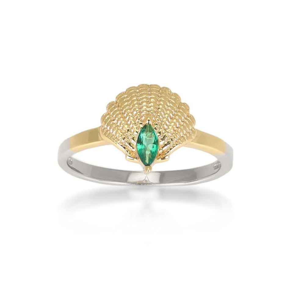 Pamela Gold Shell Ring