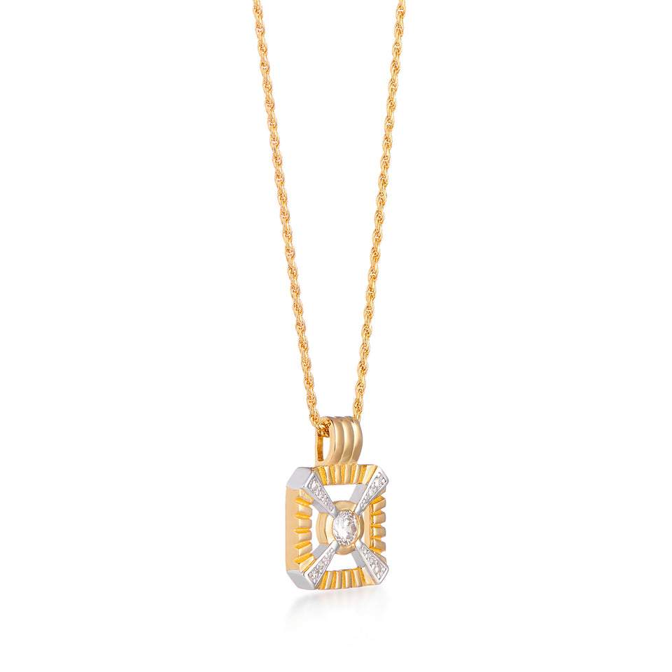 Eleanor Gold Necklace on Rope Chain